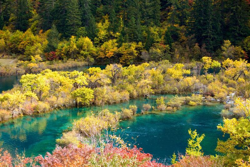 پارک ملی Jiuzhaigou چین دوباره گردشگران را میپذیرد