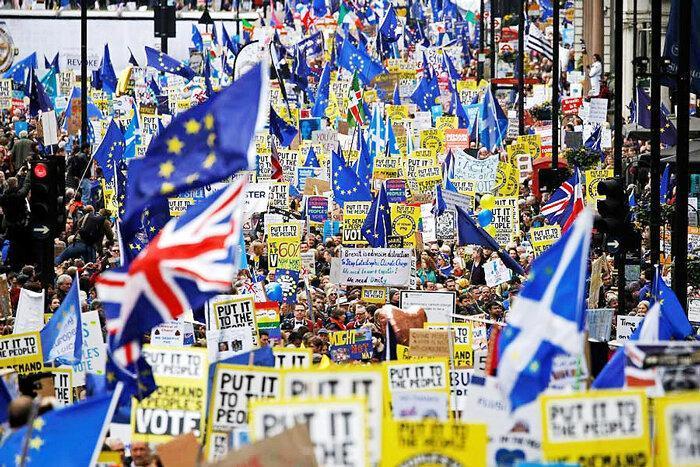 برگزاری بزرگ ترین تظاهرات اعتراضی تاریخ انگلیس برسر برگزیت