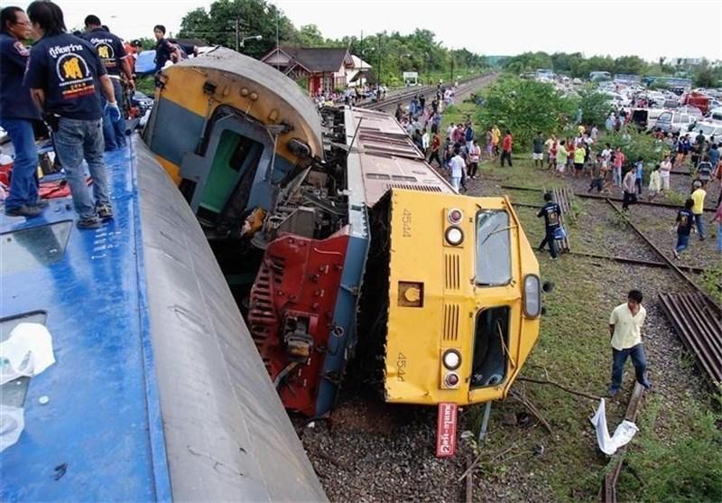 زخمی شدن بیش از 20 نفر بر اثر خروج یک قطار از ریل در تایلند