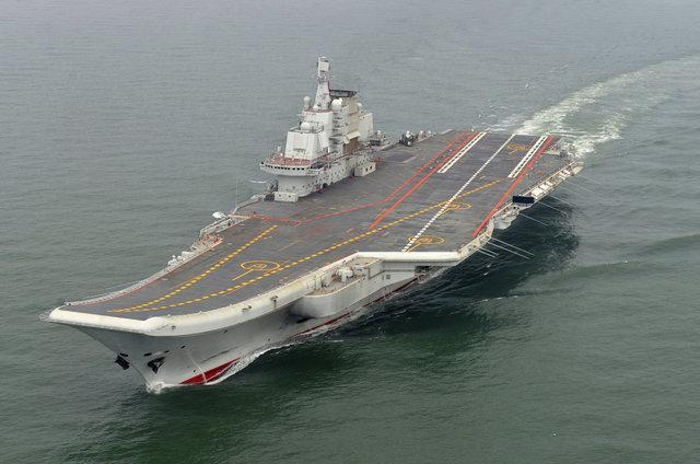 تنها ناو هواپیمابر چین در یک رزمایش شرکت کرد