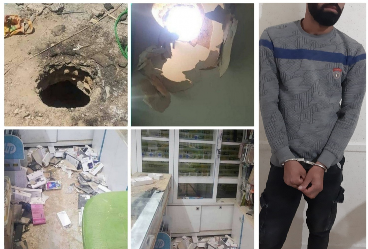 دستگیری دزد حرفه ای که سقف سوراخ می کرد