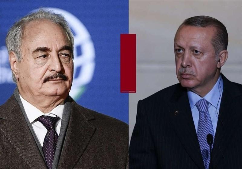 لیبی، تهدید حفتر به غرق کردن کشتی های ترکیه، اظهارات السیسی درباره حل سیاسی بحران لیبی