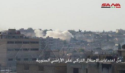 مزدوران وابسته به ترکیه خانه شهروندان سوری را به آتش کشیدند