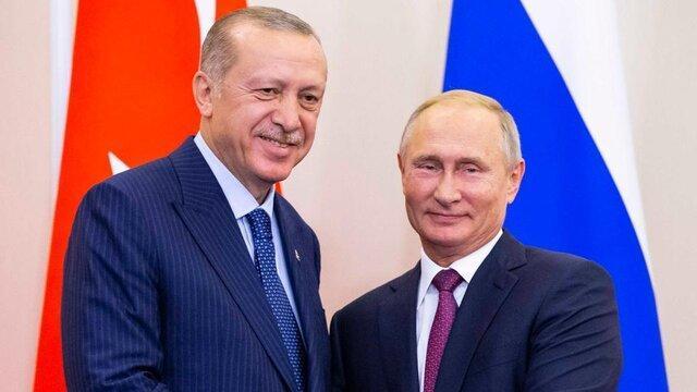 پیغام تبریک اردوغان به پوتین