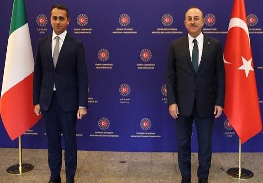 تأکید وزرای خارجه ترکیه و ایتالیا بر تحقق صلح در لیبی