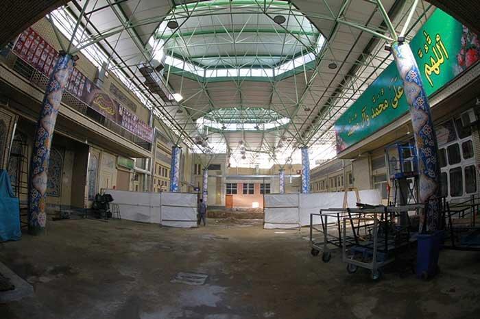 آخرین شرایط بازسازی و بازسازی مسجد تاریخی ارگ تهران در آستانه محرم