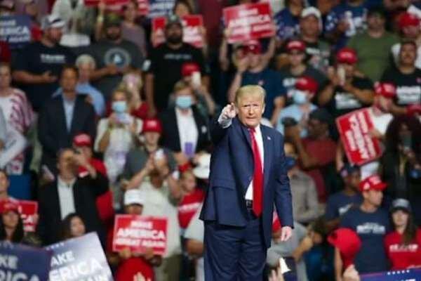 ترامپ دومین گردهمایی انتخاباتی خود را در نیوهمپشایر برگزار می نماید