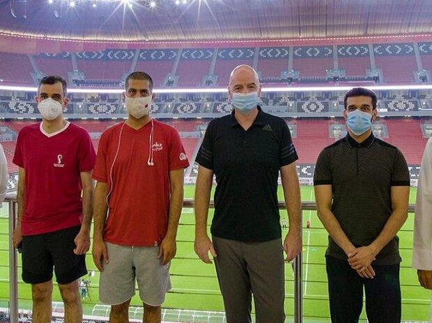 شگفتی رئیس فیفا از پیشرفت قطر در ساخت ورزشگاه های جام جهانی