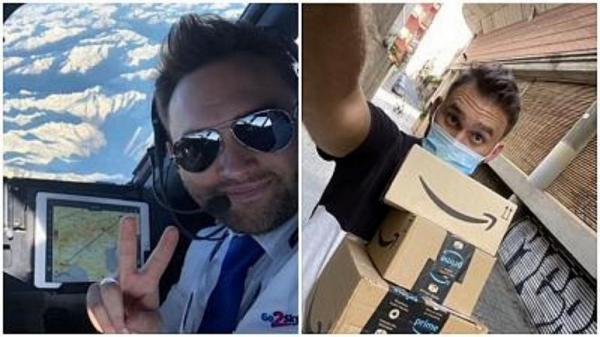 مشاغل جدید خلبانان بیکار شده اروپایی، از پیک آمازون تا فروش قهوه استارباکس