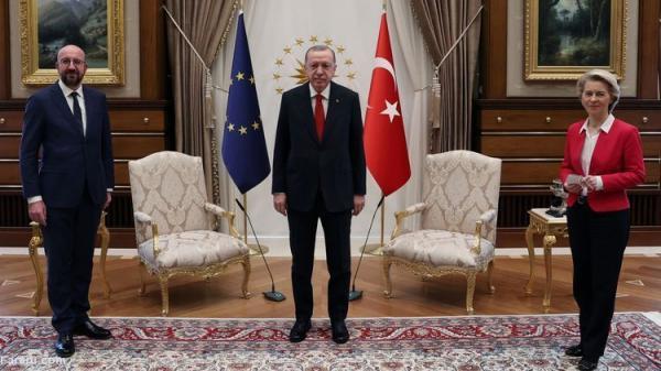 (ویدئو) اردوغان رئیس کمیسیون اروپا را تحقیر کرد